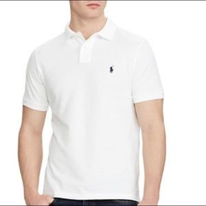 Polo Ralph Lauren Slim Fit Stretch Mesh White Polo